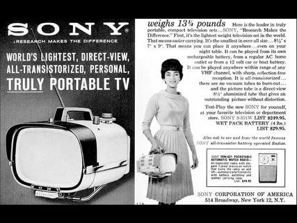 Реклама телевизора Sony TV8-301