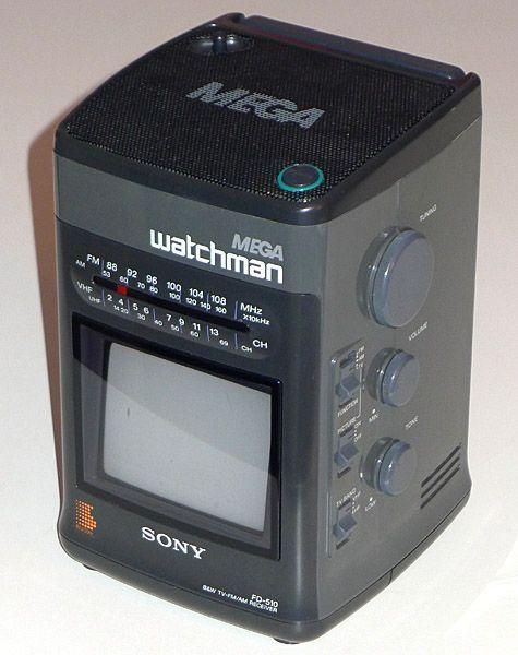 Черно-белый Sony Watchman FD-510